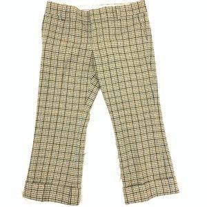 Juicy Couture Wool Plaid Ankle Pants Silk Liner 28